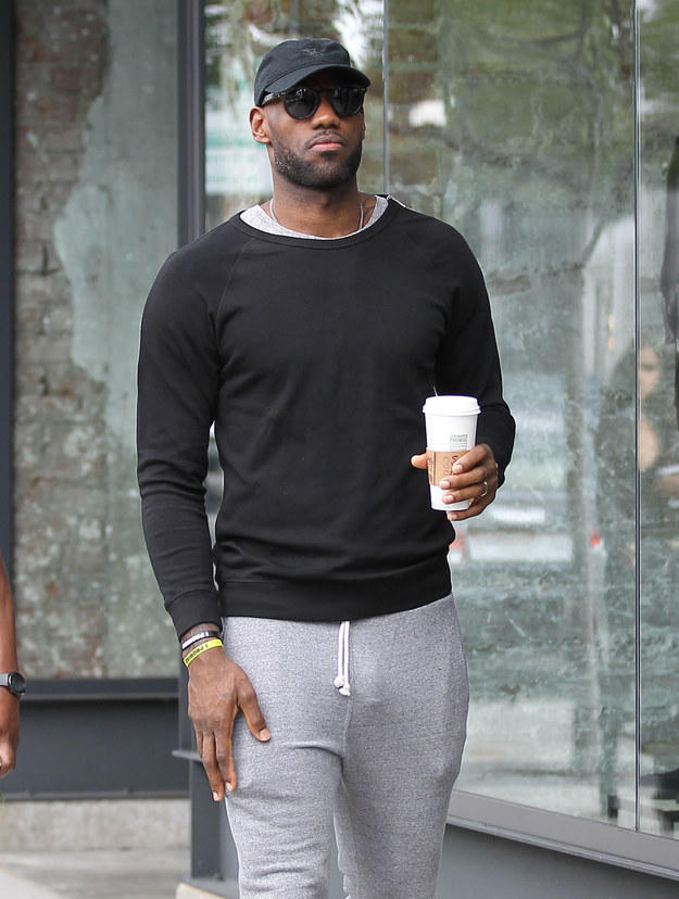 Man Candy James Lebron Shows Visible Penis Line In Grey