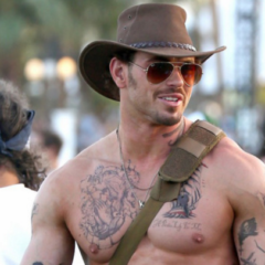 MAN CANDY: Kellan Lutz at Coachella is the Buff & Burly Southern Hunk of Your Dreams