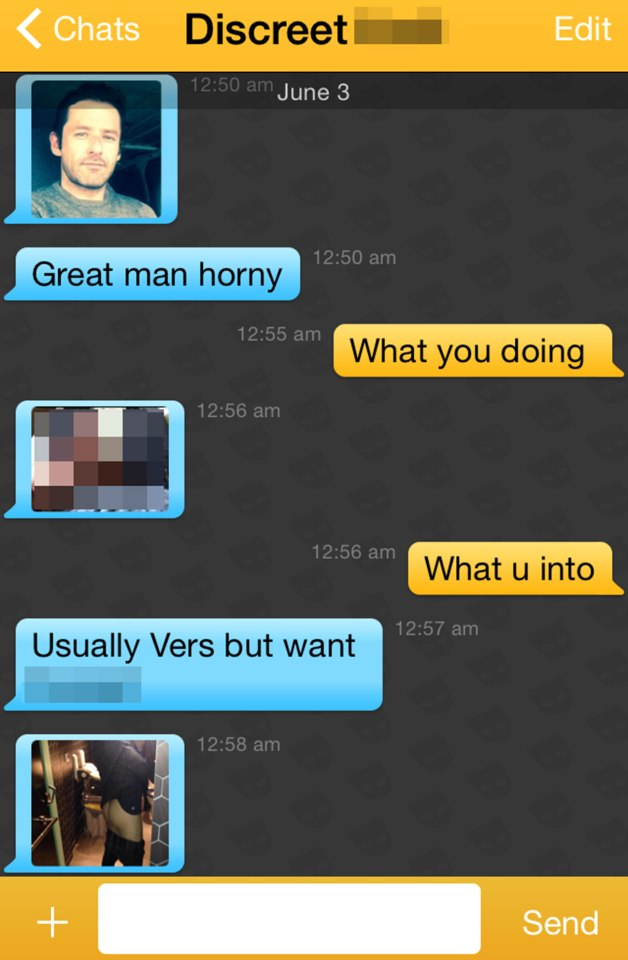 Andy West of Big Brother fame on Grindr. Ed of Big Brother on Channel 5