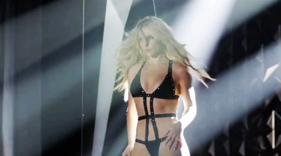 ****Ruckas Videograbs**** (01322) 861777 *IMPORTANT* Please credit Instagram/britneyspears for this picture. 12/07/16 Grabs from a preview of Britney Spears starring in an advert for her latest fragrance 'Private Show'. The teaser see's Britney walking into an empty theatre in a revealing swimsuit and turning on the power before putting on a private show for the viewer. Office (UK) : 01322 861777 Mobile (UK) : 07742 164 106 **IMPORTANT - PLEASE READ** The video grabs supplied by Ruckas Pictures always remain the copyright of the programme makers, we provide a service to purely capture and supply the images to the client, securing the copyright of the images will always remain the responsibility of the publisher at all times. Standard terms, conditions & minimum fees apply to our videograbs unless varied by agreement prior to publication.