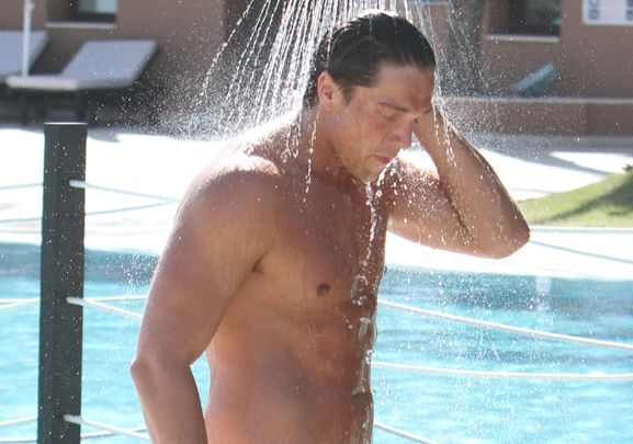 MAN CANDY: TOWIE's Lewis Bloor Shows his Boner in the CBB Shower [NSFW]