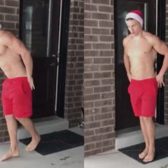 VIRAL: Hunky Santa Streaking Starkers in the Snow will Jingle your Balls [NSFW]