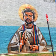 VIRAL: Fabulous George Michael Mural Appears, Depicting Singer as Saint