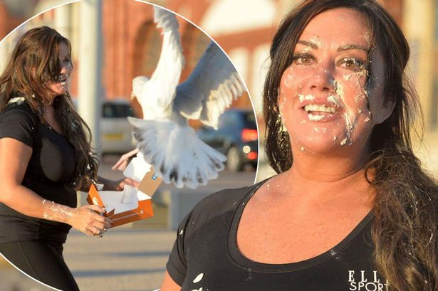 This lady got creamed - 4 1