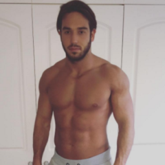 MAN CANDY: TOWIE's Lockie Bulges in Grey Tracksuit Thirst Trap