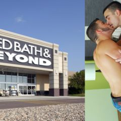 NEWS: Bed, Bath & Bumming! Gay Scabies-Scoundrels have Sex on Display Bed