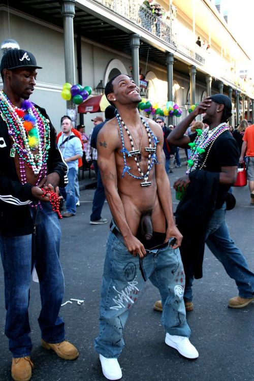 Naked Men Mardi Gras