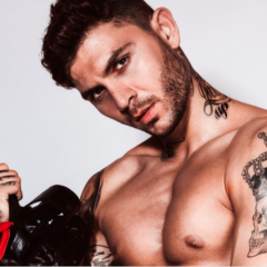 Inked Stud Panayiotis Karagianis is a Knockout wearing Boxing Gloves – and Nothing Else! [NSFW-ish]