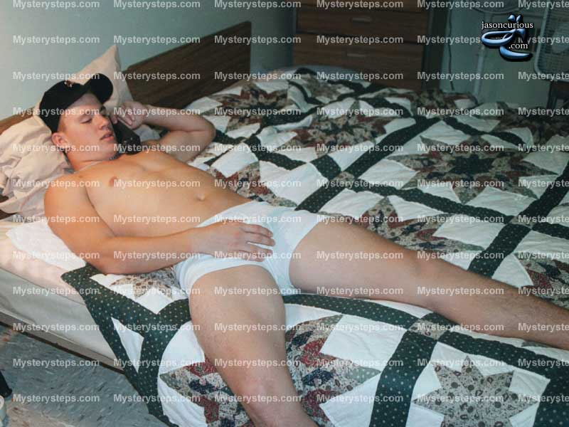 MAN CANDY: Underwear Snaps Show Young Channing Tatum Feeling Himself in Bed