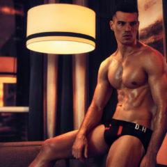 MAN CANDY: Brazilian Footballer-turned-Model Alexsandro Duarte Flaunts Bulge in Briefs