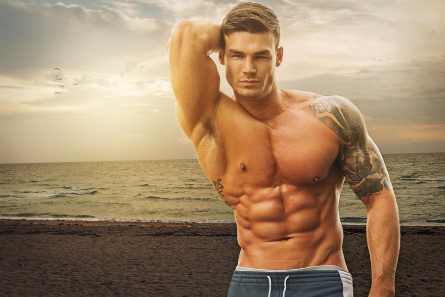 MAN CANDY: Fitness Model Myles Leask Flexes Different Muscle in Younger Naked Shoot [NSFW]