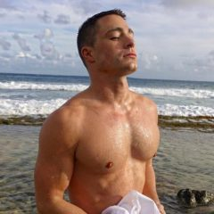 MAN CANDY: Colton Haynes Squeezes his Package into Shiny Thong for 'Rough Night'