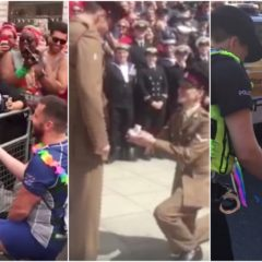 VIRAL: Soldiers, Ruggers & Lezzas get Engaged at London Pride — Congrats! [Video]