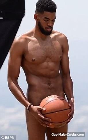 Naked basketball player