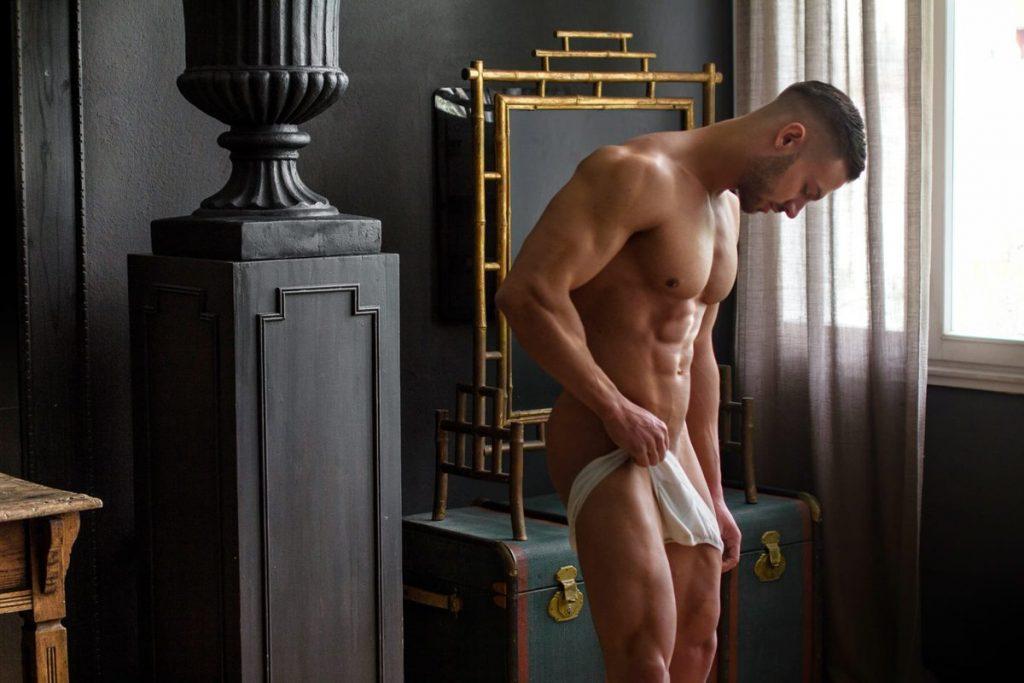 Model Nick Milan's full-frontal shoot [NSFW]