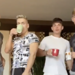 NSFW: Four guys put a spin on the Buss It Challenge